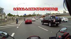 Suzuki M109r Traffic again 1800cc Boulevard - Legal Lane splitting