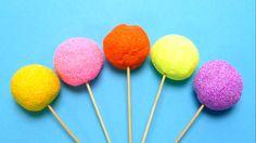 Fancy Foam Lollipops with Surprise Egg Toys