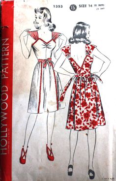 40s Hollywood wrap dress pattern