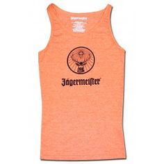 Jagermeister Classic Logo Orange Women's Tank Top. Official from Jagermeister!