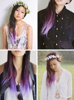 Alyssa-from-OrdinaryPeople-Purple-Tips-Hair-Ombre.jpg (700×944)
