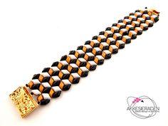 English pattern for the Tumbling Blocks bracelet