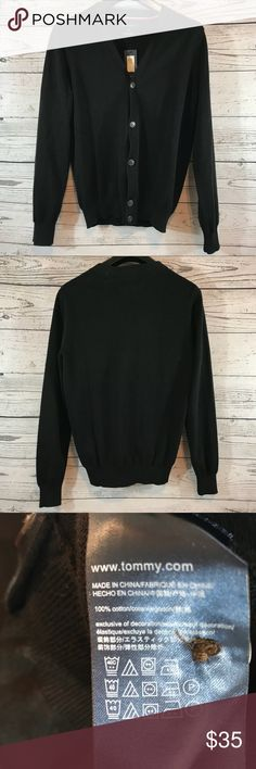 Tommy Hilfiger Black Cardigan Sweater Medium NEW Tommy Hilfiger Black Cardigan Sweater Medium NEW. New with tags. Check out my other items! Tommy Hilfiger Sweaters Cardigan