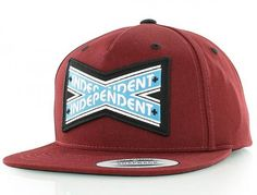 Intersect Burgundy Snapback Cap by INDEPENDENT