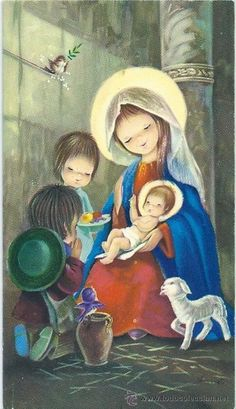 Divine Mother, Blessed Mother Mary, Christian Images, Christian Art, Christmas Nativity, Christmas Angels, Mary And Jesus, O Holy Night, Madonna And Child