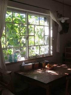 置き家具だけでは変えられない、その空間に漂う空気を、 ドアや窓、壁は変えてくれます。 大掛かりな事でなくても、ちょっとした一手間で、 その空気感を大きく一新させる事が出来ます。 今回は、味気ない普通のサッシ窓を、 100均の板を使ってレトロ&ビンテージな雰囲気が漂う窓に変えてみました。 窓枠を作るより、もっと簡単に、でもリアルに、そして低コスト! 更に、家の中から見える窓の外の景色と外から見える家の中、 両方の程良い目隠しにもなって、 自己満足度100%です。 Diy Interior, Interior Design Living Room, Interior Architecture, Casa Retro, Japanese Interior, Japanese House, Dream Rooms, Cool Rooms, House Rooms