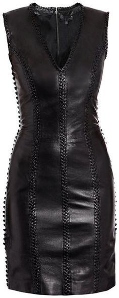 Alexander Mcqueen Leather Dress