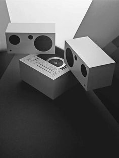 Totem Stereo System with detachable speakers, Model RR 130, designed by Mario Bellini for Brionvega. c.1970