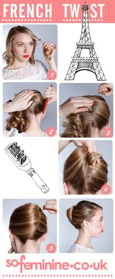 How to do a French Twist hairstyle.