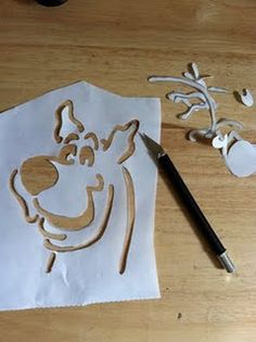 Scooby Doo Freezer Paper Stencil... t-shirts...maybe not shirts but for something else.
