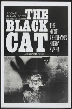 BLACK-CAT-one-sheet-movie-poster-27x41-1966-EDGAR-ALLAN-POE-LINEN-BACKED
