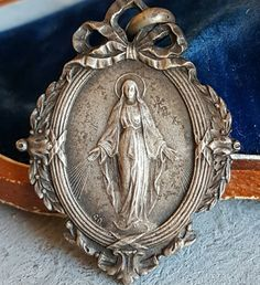 Vintage French Blessed Mother Mary Medal Art Nouveau Catholic Religious Virgin Mary Medal Religious Gift Catholic Jewelry Religious Jewelry by PinyolBoiVintage on Etsy