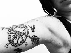 "I like the half clock, half compass. ""live for the moment and know that everything happens for a reason"""