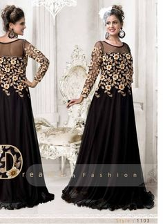 Colour Black Fabric Net Occasion Reception, Party, Festival Size Free Size Sleeve Full Sleeve Type Gown