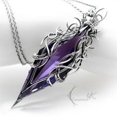 TAESIRTH - silver and amethyst by LUNARIEEN on DeviantArt - Fully handmade work: necklace technique: wire-wrapping materials: sterling silver, fine silver, ame - Wire Wrapped Jewelry, Wire Jewelry, Jewelry Box, Silver Jewelry, Unique Jewelry, Jewelry Making, Silver Ring, Bullet Jewelry, Pearl Jewelry