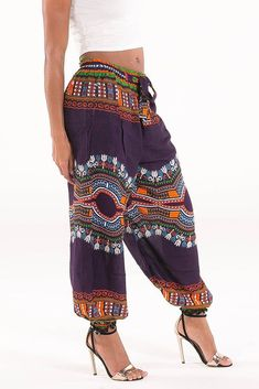 Low Waisted African Dashiki Pants By Diyanu African American Fashion, African Print Fashion, Africa Fashion, African Fashion Dresses, African Outfits, Modern African Fashion, African Print Pants, African Clothes, African Attire