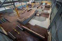 Risultati immagini per indoor skateboard park Space Images, Skate Park, Shed, Indoor, Cool Stuff, Interior, Brian Head, Parks, Urban
