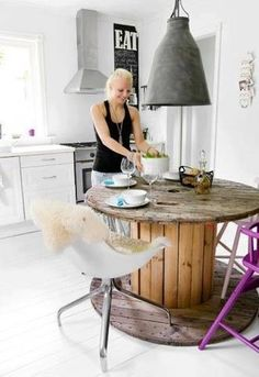 recycle piece for a kitchen #recycle #wood #kitchen