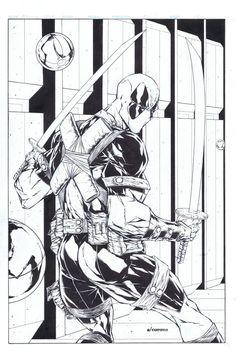 #Deadpool #Fan #Art. (Deadpool print WW Chicago) By: Adelsocorona.