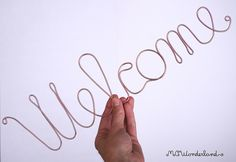 welcome wire sign in cursive scripture wire art by MCWonderland