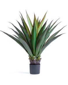 Nearly Natural Spiked Agave Floor Plant In Pot Faux Plants Agave Plant Floor Plants