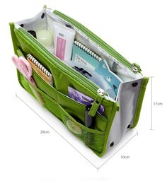 Travel bag purse pouch with pockets tidy organizer with zipper Travel Organization, Travel Bag, Purses And Bags, Pouch, Zipper, Pockets, Sachets, Porch, Zippers