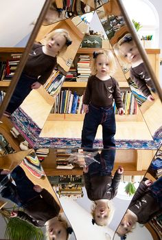 An Encounter with a Mirror...For more Reggio Inspired Pins: http://pinterest.com/kinderooacademy/reggio-inspired/ ≈ ≈