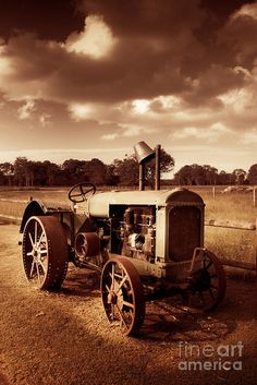 Vintage Print featuring the photograph Tractor From Yesteryear by Ryan Jorgensen