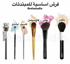 فرش أساسية للمبتدئات Contour Makeup, Makeup Lipstick, Mac Makeup, Makeup Brushes, Makeup Cosmetics, Simple Eye Makeup, Beautiful Eye Makeup, Natural Makeup, Makeup 101