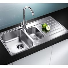Blanco Lantos 1.5 Bowl Stainless Steel Sink & Drainer: Image 2