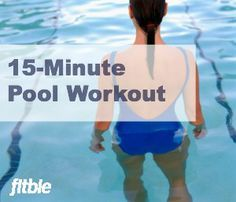 Shape up while you cool down this summer with this fast and firming underwater toning routine. | Fitbie.com