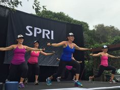 A #FIT4MOM conference isn't complete without EXERCISEPOOLZA!!! A huge thank you to Graced By Grit and SPRI for sponsor this AMAZING workout! #beyou #likeamom #MOMSTRONG