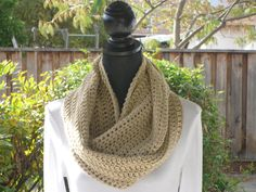 A personal favorite from my Etsy shop https://www.etsy.com/listing/115658355/infinity-eternity-cowl-neck-warmer
