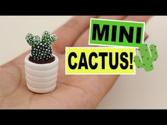 Miniature Cactus in a pot polymer clay tutorial