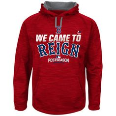Majestic Boston Red Sox Red 2016 Postseason Authentic Collection Came To Reign Streak Hoodie