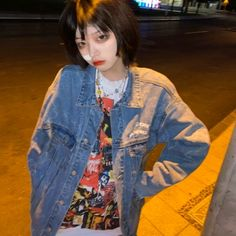 Ulzzang Girl, Denim, Jackets, Fashion, Down Jackets, Moda, Fashion Styles, Jacket, Fasion