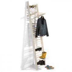 Zeugwart is a minimal, freestanding coat/shoerack. Designed by Alexander Schmied.    02 / 20 / 2013  6  decorate your walls