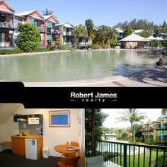#Propertyforsale #Realestate Unit upstairs has a large double bedroom with en suite, modern kitchen and open plan living area. Downstairs is an executive studio which has its own balcony overlooking the lagoon pools.  Location: 403/404 3 Hilton Terrace, Tewantin, QLD, 4565