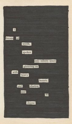 blacked out words, poem, text on a page.