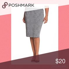 Lane Bryant Houndstooth Print Pencil Skirt Perfect condition, rarely worn. The skirt is NOT lined. Hook and zipper closure. Size 22, definitely true to size. Smoke and pet free home. Has a slit in the back. 67% polyester, 32% rayon, and 1% spandex. Looking to only sell on Posh! Bundle to save! 💕 Lane Bryant Skirts Pencil