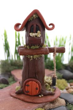 OOAK Gnome Home with Two Stories and Tire Swing by GnomeWoods