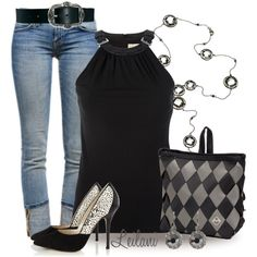 """""""Black and gray maggie bag"""" by leilani-almazan on Polyvore"""