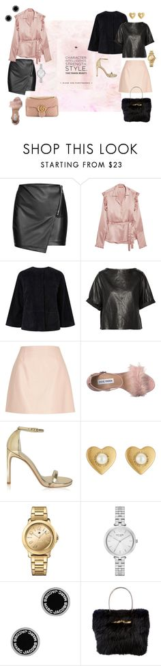 """PINK & LEATHER"" by yasmingarcia99 on Polyvore featuring Maggie Marilyn, L.K.Bennett, Isabel Marant, River Island, Steve Madden, Stuart Weitzman, Marc Jacobs, Tommy Hilfiger, Kate Spade and Balenciaga"