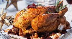 Roast Capon with Vegetable Chips ~ Gastronomy of the World Gourmet Recipes, Dinner Recipes, Healthy Recipes, Capon Recipe, Chicory Salad, Posh Nosh, Vegetable Chips, Oven Dishes, Vintage Recipes