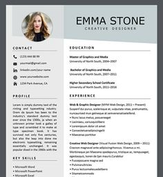 Resume Template Professional Resume Template Creative Resume Template For Word Resume Template Professional Resume Template Creative Resume Template For Word Chic Resume Resum Resume Template Professional Resume Template Creative Resume Template For Word One Page Resume Template, Cv Template, Cover Letter Template, Templates Free, Cover Letters, Free Resume Examples, Creative Resume Templates, Manager Resume, Student Resume