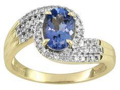 Tanzanite 1.20ct With White Diamond .20ctw 10k Yellow Gold Ring
