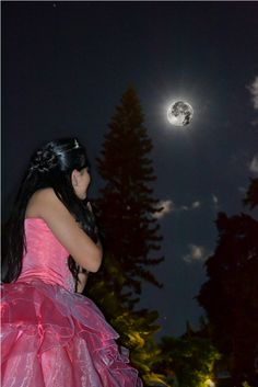 viendo a la luna