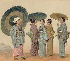 Kimonos i parasols