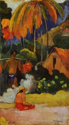 The moment of truth II, 1893 by Paul Gauguin, 1st Tahiti period. Post-Impressionism. landscape. Ateneum, Helsinki, Finland