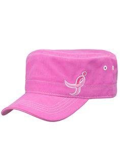 Pink Komen Running Ribbon Cadet Hat